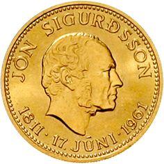 Iceland 1944. 500 Kronur 1961 Jon Sigurdson.