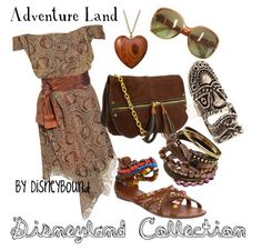 """""""Adventure Land"""" by lalakay Disney Bound Outfits, Disney Dresses, Disney Clothes, Disney Inspired Fashion, Disney Fashion, Dibujos Cute, Mode Chic, Character Outfits, Disney Style"""