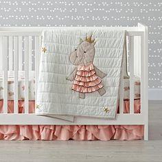 Royal Hippo Crib Bedding | The Land of Nod