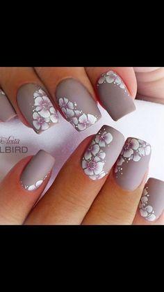 Pin by Elizabeth on Nail designs Elegant Nails, Stylish Nails, Trendy Nails, Pretty Nail Art, Cool Nail Art, Fabulous Nails, Gorgeous Nails, Fancy Nails, Cute Nails