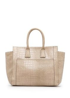 Croc effect tote bag - Women Crocodile, Spring Bags, Tote Handbags, Crocs, Reusable Tote Bags, Purses, Shoe Bag, Polyvore, Stuff To Buy