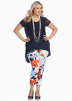5 stylish ways to wear plus size floral pants in spring