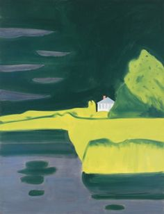 White House 2   -   Alex Katz   2012  American  b.1927-  Oil on linen,  126 x 96 in.