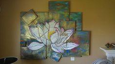 Contemporary art modern artwork original art lotus Contemporary Abstract Art, Modern Artwork, Lotus, Original Artwork, Texture, The Originals, Painting, Etsy, Surface Finish
