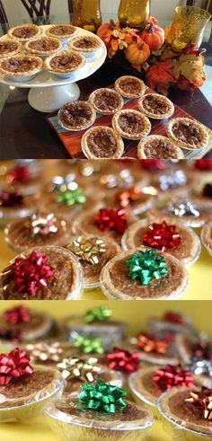 55 mini pecan pie tart recipe easy crust baking dessert thanksgiving winter christmas holidays dessert on the go snack easy grandmas recipe ...