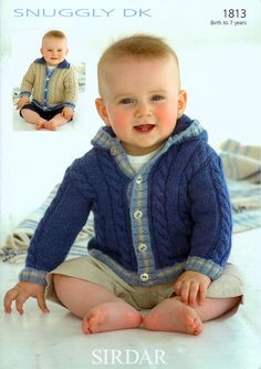 Jackets in Sirdar Snuggly DK - 1813 - Babies - For - Patterns