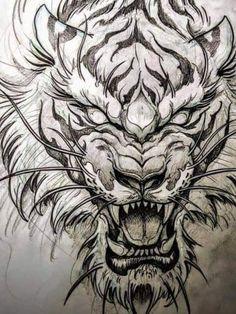 Aztec Tattoos Sleeve, Tiger Tattoo Sleeve, Lion Tattoo Sleeves, Dragon Sleeve Tattoos, Japan Tattoo Design, Tiger Tattoo Design, Tattoo Design Drawings, Japanese Tiger Tattoo, Japanese Tattoo Designs