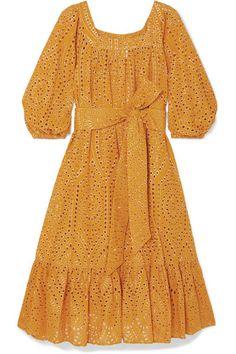 Saffron and gold broderie anglaise cotton Slips on cotton Dry clean Cotton Slip, Lisa Marie Fernandez, Stylish Dress Designs, Latest African Fashion Dresses, Clothes Crafts, Kurta Designs, Cotton Dresses, Casual Dresses, Clothes For Women