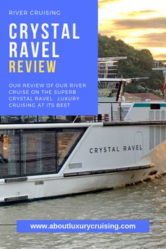 We cruised along the Blue Danube from Vienna with Crystal Cruises on the Luxury River cruise ship Crystal Ravel. Read our review and share with your friends. We have sailed with Crystal Ocean cruises and we wanted to try the river cruise option. We were not disappointed....
