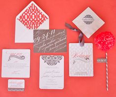 Coral Gray and White, Traditional With a Twist | Nico and Lala Wedding Ensemble, via Glamour Magazine
