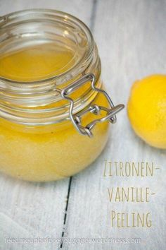 Geschenke aus der Küche selbst gemachte Peeling Zitronen-Vanille-Peeling