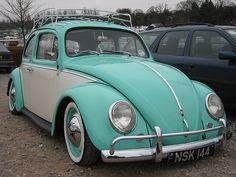 Two tone VW Beetle