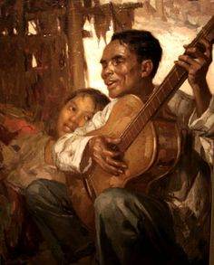 El Ciego (The Blind Man) by Fernando Amorsolo.  This work commissioned by a naval intelligence officer who helped in the liberation of Manila during World War II.