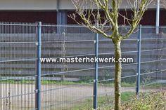 ijzersterk staafmat hekwerk met draden 8/6/8mm en mazen van 50x200mm uitvoering antraciet gepoedercoat RAL7016