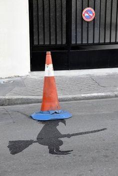 Traffic cone hat by Sandrine Estrade Boulet