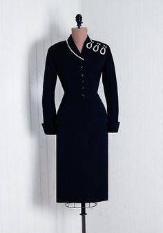 1940s wool gabardine suit - Timeless Vixen Vintage