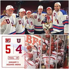 The night of Jan. 5, 2017 was a historic one with @terrierhockey becoming the first NCAA program in the 41-year history of World Juniors to have six players win a gold medal‼️Fans at @agganisarena were also treated to a special performance, as Jakob Forsbacka Karlsson recorded his first-career collegiate hat trick to help #BU rally past No. 10 Union in OT, 5-4. #ProudToBU #BUSA