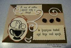 Crackerbox Palace rubber stamp Blog: A Cup of Coffee