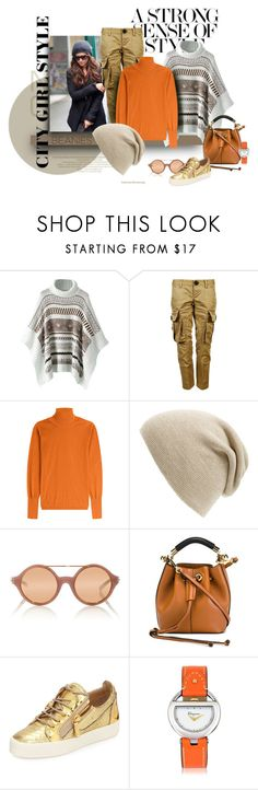 """Pumpkins and Soft"" by michelletheaflack ❤ liked on Polyvore featuring Dsquared2, Roksanda, Phase 3, Linda Farrow, Chloé, Giuseppe Zanotti, Salvatore Ferragamo and beanies"