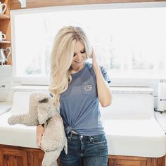 """539db871a Ivory Ella on Instagram  """"Blonde beauty  lindsiechrisley looking flawless  in our Perfect Fit Ocean Waves Tee. 🔥🔥 P.S Who is as excited as we are  for the ..."""