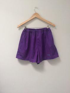 80s FILA Shorts Tennis Shorts Purple Shorts by MileZeroVintage