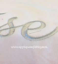 What to do when your monogram/applique design/embroidery design thread LOOPS!