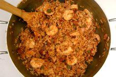 Shrimp, Chicken and Andouille Jambalaya Recipe