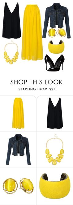 """Yellow outfit"" by bnp111504 ❤ liked on Polyvore featuring moda, STELLA McCARTNEY, LE3NO, INC International Concepts, Kate Spade, Isabel Marant, Dolce&Gabbana, women's clothing, women's fashion ve women"