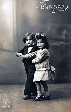 Vintage Postcard ~ Let's Tango by chicks57, via Flickr