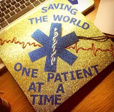 Grad cap for nurses, paramedics, EMTs