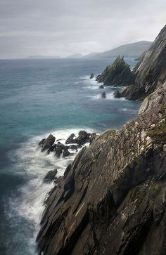 last day at the edge of the earth by manyfires, via Flickr  overlooking the cliff on the Dingle Peninsula, Dunquin, Irland