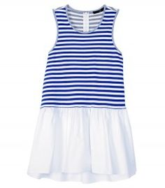 Tibi Stripe Sleeveless Top - Nothing looks quite so nice with a tan as beachy blues. http://shop.harpersbazaar.com/trends/beach-blues/