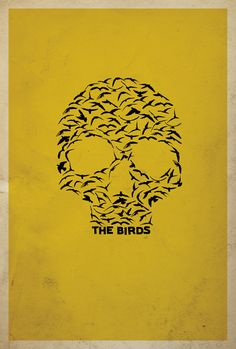 The Birds Minimalist Movie Posters | Matt Owen | feel desain
