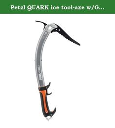 Petzl QUARK ice tool-axe w/GripRest. Ice axe for technical mountaineering and ice climbing.