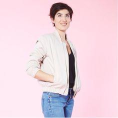 Magazine Couture, Blouson Teddy, Pattern Making, Sewing Patterns, Bomber Jacket, Jackets, Inspiration, Style, Diy