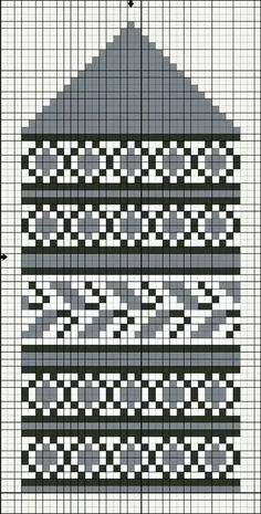 Knitted Mittens Pattern, Fair Isle Knitting Patterns, Knitting Charts, Knit Mittens, Knitting Stitches, Knitting Socks, Crochet Chart, Knit Or Crochet, Bead Crochet Rope