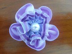 Flores de tela lila