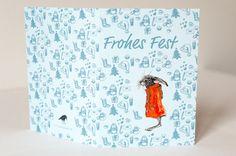 Weihnachtskarten - Weihnachtskartenset (3 Stück): Frohes Fest - von pixelgraphix bei DaWanda