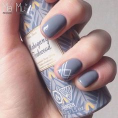 Beautiful nail art designs that are just too cute to resist. It's time to try out something new with your nail art. Cute Nails, Pretty Nails, Gray Nails, Shellac Nails, Accent Nails, Creative Nails, Perfect Nails, Manicure And Pedicure, Nails Inspiration