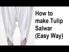 Tulip pants DIY | Tulip pants drafting, cutting and stitching step by step tutorial - YouTube