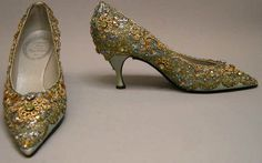 Shoes, Roger Vivier for Dior, 1958, Metropolitan Museum of Art