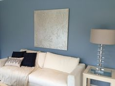 blue grey living room show home