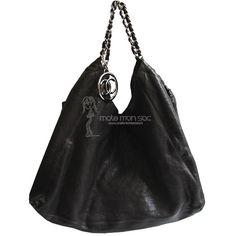 Chanel cabas Coco XXL en veau graine noir