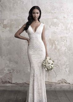 Wonderful Perfect Wedding Dress For The Bride Ideas. Ineffable Perfect Wedding Dress For The Bride Ideas. V Neck Wedding Dress, Fit And Flare Wedding Dress, Wedding Dresses 2018, Elegant Wedding Dress, Perfect Wedding Dress, Bridal Dresses, Wedding Dress Sheath, Gown Wedding, Wedding Dress Petite