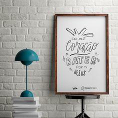 O meu coração bate por ti E as batidas chamam pelo teu nome Teu nome, Jesus . #Bible #Bíblia #calegraphy #caligrafia #Christian #designerscristaos #designletters #Deus #EspíritoSanto #Faith #Fé #God #Grace #handlettered #handlettering #Holy #HolySpirit #inspiration #Jesus #jesuschrist #JesusChrist #JesusCristo #lettering #Love #Mercy #Salvation #tipografia #typography #typographyinspired #wpdavid