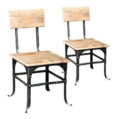 Bleecker Reclaimed Wood Side Chair from Country Wood Furniture