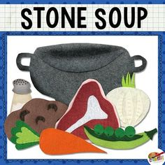 Stone Soup {Felt Story Set} This printable story set was inspired by the classic children's story, Stone Soup. Flannel boards are a great tool in teaching visual literacy, narration, sequencing, and comprehension! Visual Literacy, Literacy Activities, Teaching Resources, Felt Board Stories, Felt Stories, Felt Busy Bag, Preschool Director, Stone Soup, Flannel Boards