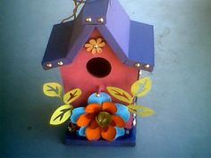upcycling birdhouse from drab to fab, concrete masonry, gardening, outdoor living