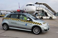 hydrogen powered Mercedes airport vehicle in Germany