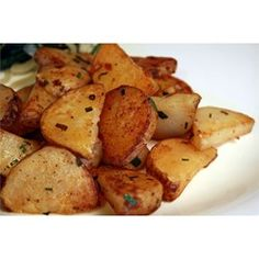 Garlic Homefries - great! Didn't need the last 10 minutes of cooking, didn't have chives, still yummy